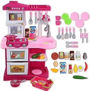 comprar comparacion deAO Mi Little Chef - Cocinita de Juguete con 30 accesorios incluidos, Rosa