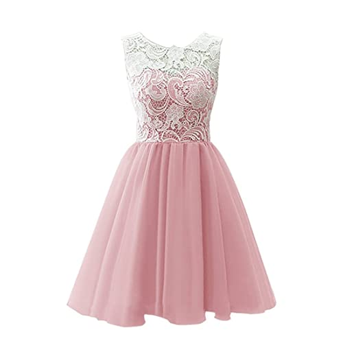 4be013105014 Omela Short Lace Chiffon Girls Prom Party Gown Bridesmaid Dresses