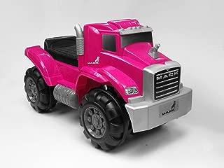 Beyond Infinity Ride On Mack Truck Foot to Floor in Kids Ride On, Pink, 26.38 x 12.6 x 15.11