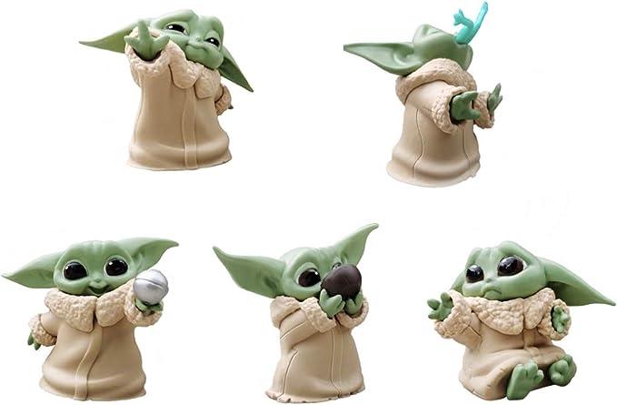 5pcs//set Star Wars Mandalorian Baby Yoda PVC Figur Modell 6cm Spielzeug