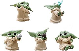 5 بسته جنگ ستارگان: کودک یودا کودک کلکسیونی Bounty Collection اسباب بازی توپ شکل اسباب بازی برای کودک The Mandalorian Decor Decora Ornaments