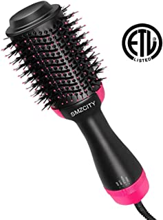 Hair Dryer Brush, SMZCTYI 3-in-1 Dry Straighten & Curl in One Step Hair Dryer and Styler Anion Anti-Frizz&Static