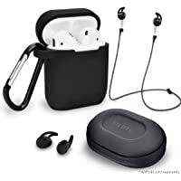5-Piece AirPod Case Cover and Accessory Pack (AirPods not included) (Multi Colors)