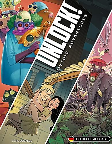 Asmodee Unlock! - Mythic Adventures, Kennerspiel, Rätselspiel, Deutsch