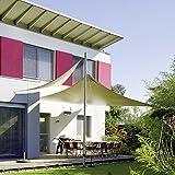 Sonnensegel Sonnenschutz Garten | UV-Schutz PES Polyester wasser-abweisend imprägniert | CelinaSun 0011683 | Dreieck rechtwinklig 3 x 3 x 4,25 m creme-weiß - 4