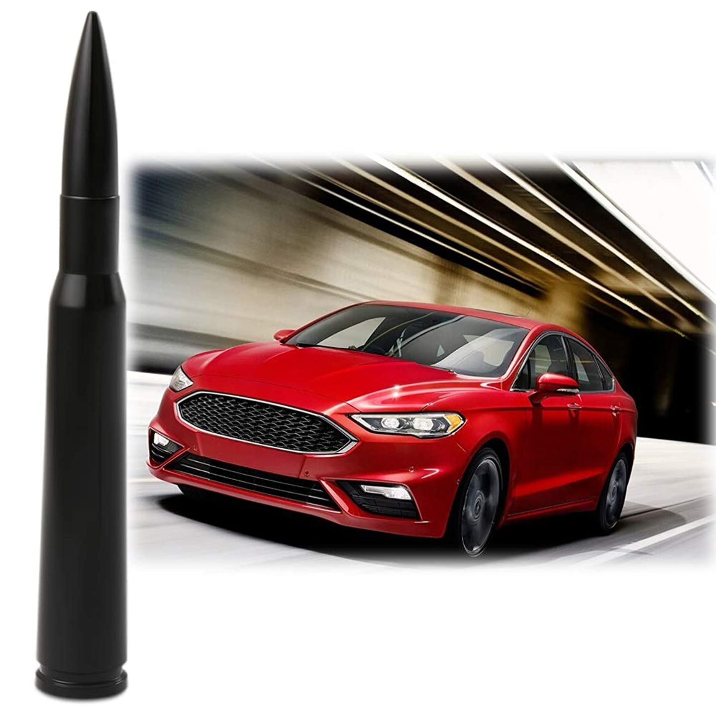 Bullet Antenna Fit Ford Explorer Edge Fusion Focus Escape Fiesta Expedition 2008-2019 Accessories Short Replacement Antenna