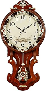 Zacheril Reloj De Pared De Números Reloj de Pared Clasaic Creativo de Madera Maciza de Madera caída del Reloj de Tiempo de...