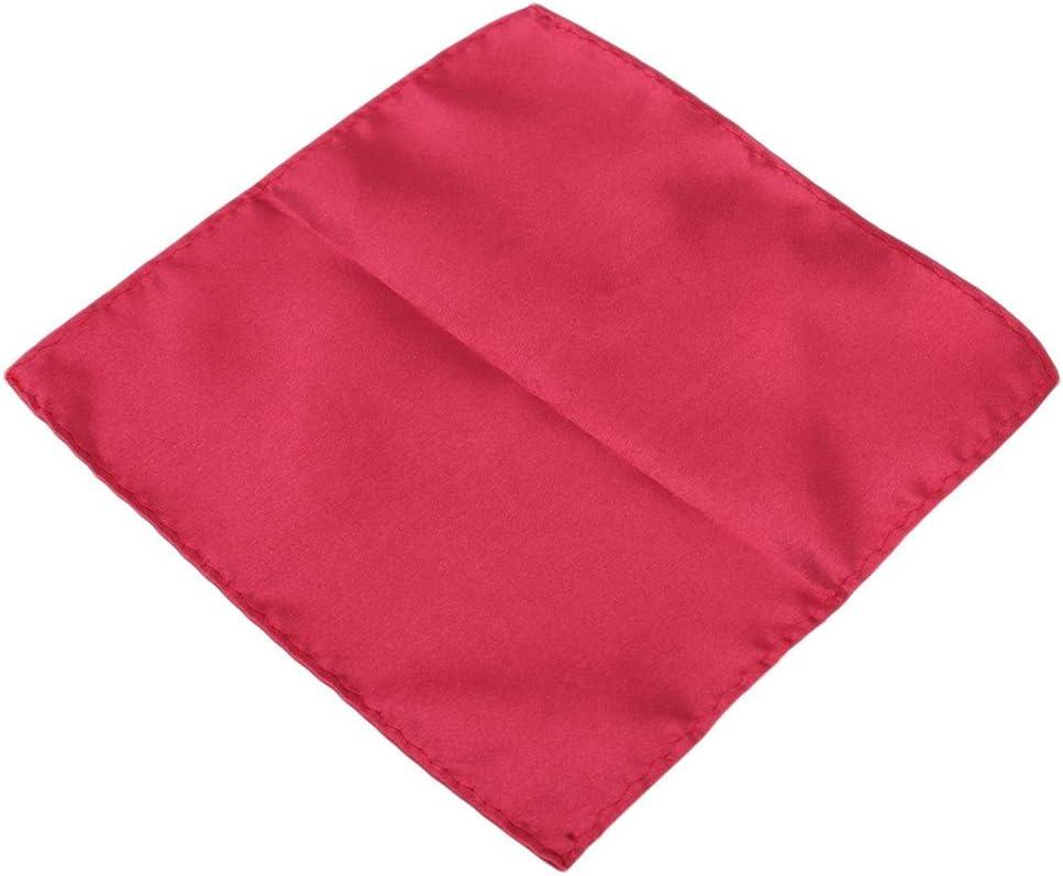 Idiytip Men Solid Color Pocket Square Handkerchief for Suit Jacket Gift,Crimson