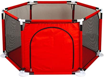 Portable Baby Fence Toddler Guardrail Crawling Mat Indoor Playground Protective Playpen Tent Assembled House Play Yard Oxford Cloth Ball Pool Toy  Balls and mats Not Included