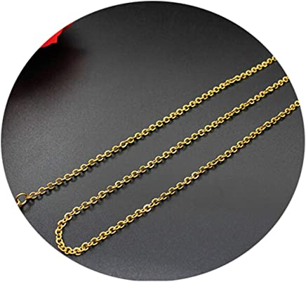Epinki Stainless Steel Chain Necklace for Women Gold Cable Chain Fashion Link Necklace Jewelry Necklace