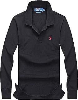 ゴルフウェア メンズ 長袖 冬 シャツ メンズシャツ アウター 冬用ウェア 春服 ポニー刺繍 コットン ボーイズサイズ ビジネス 軽量 無地 綿