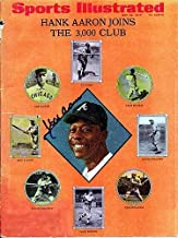 Hank Aaron Signed Sports Illustrated Magazine Atlanta Braves - PSA/DNA Authentication - Autographed MLB Baseball Memorabilia