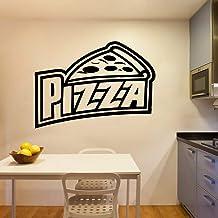 Pizza pegatinas de pared calcomanías de pared de PVC para cocina habitación vinilo Mural decoración comercial cámara adesi...
