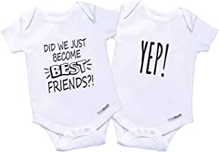 0ec52f0b2 Twin Onesies Outfits Baby Girls & Boys, Perfect Newborn Twins 2 Pack