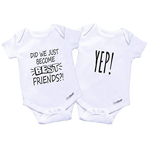 564bf97917a7f Twin Onesies Outfits Baby Girls & Boys, Perfect Newborn Twins 2 Pack