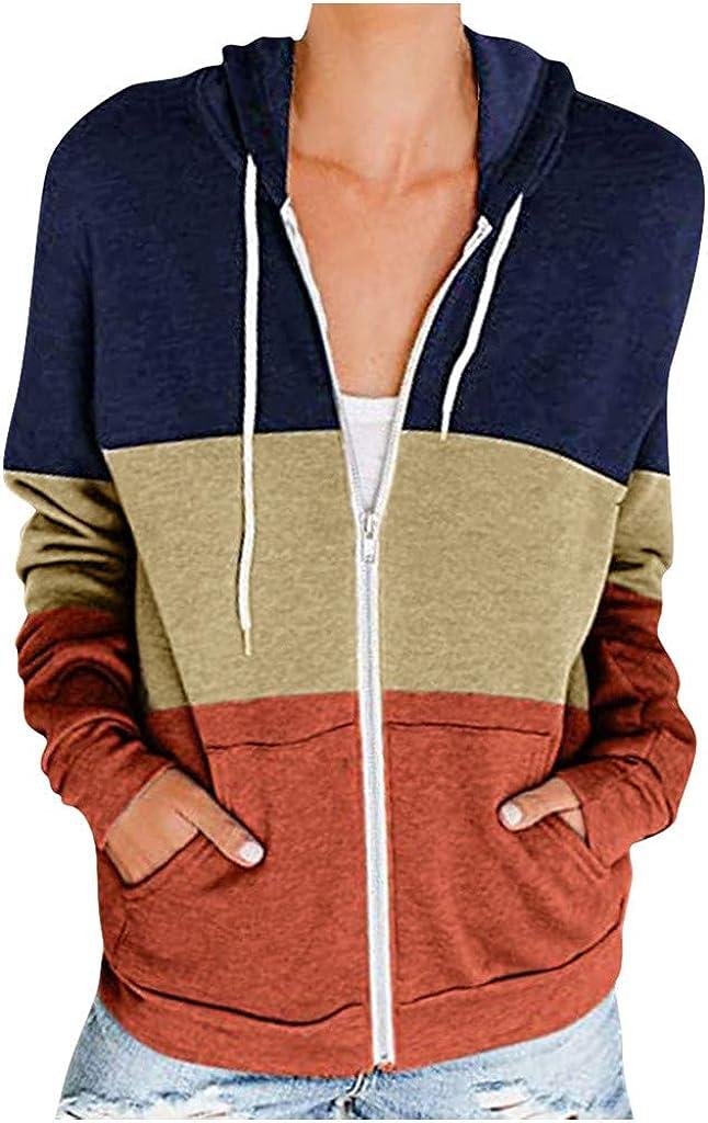 wlczzyn Casual Sweatshirts for Women,Women's Long Sleeve Halloween Print Sweatshirts Splicing Pullover Hooded Shirt