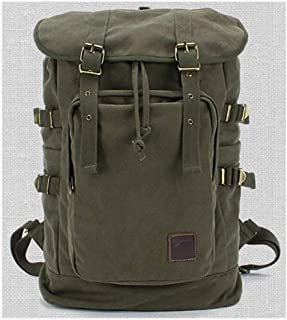 Canvas Outdoor Sport Mountain Climbing Bag Backpacks Large-Capacity Casual Backpack Fashion Trend Travel Bag (Color : Green, Size : S)