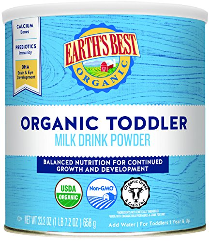 Earth's Best Organic Toddler Formula, with DHA & Iron, Vitamins & Minerals, 23.2 Ounce...