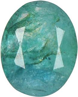 Real Gems 4.00 CT Verde Esmeralda Color Agradable Certificado Piedras Preciosas Sueltas Naturales, Piedra de Esmeralda de ...