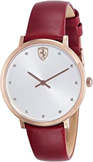 Casual 0820022 White Dial Women's Analog Ferrari Quartz Ferrari Donna
