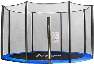 ULTRAPOWER SPORTS Sicherheitsnetz für Trampolin, Ersatznetz Ø 244cm 305cm 366cm 397cm 427cm für 6/8 Stangen, rundes Schutznetz für Gartentrampolin