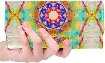 Unique Custom Abstract Design Women Trifold Wallet Long Purse Credit Card Holder Case Handbag