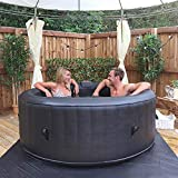 Wido Round Inflatable Spa Hot Tub 300 Air Jets 4 Person Quick Heating Jacuzzi Therapy With Lid Digital Control Panel