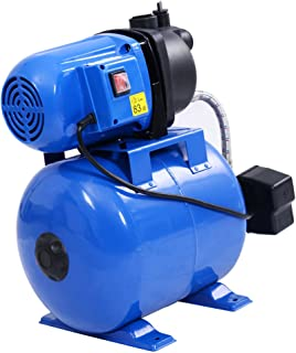 1200W Shallow Well Pump & Tank Garden Water Pump Pressurized Home Irrigation 1000GPH