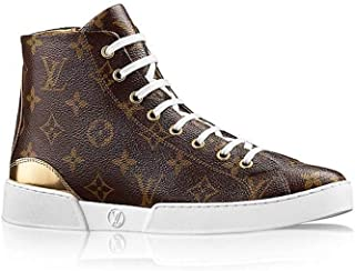829c0f38d916 Louis Vuitton Patent Monogram Calfskin Stellar Sneaker Boot LV 36   US 6  Gold