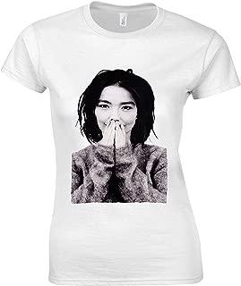 Björk Bjork Debut Singer Electronic Pop House White Women T-Shirt Top