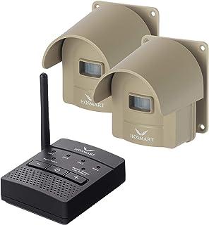 1/4 Mile Long Range Hosmart Rechargable Wireless Driveway Alarm System & driveway alert system Top Rated Outdoor Weatherpr...