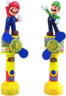 Super Mario and Luigi Light Up Toy Fans With Candy, Pack of 2