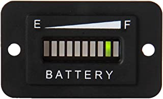 Searon 48V Volt LED Battery Indicator Meter Guage for EZGO Club Car Yamaha Golf Cart Motorcycle Car