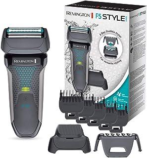 Remington F5 Style Series F5000 - Afeitadora eléctrica, recargable e inalámbrico, recortadora barba, seco y mojado, 2 acce...