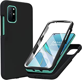 PULEN OnePlus 8T Case with Built-in Screen Protector,Rugged PC Front Cover + Soft Liquid Silicone Non-Slip Back Cover, Sho...