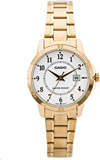 Casio His and Hers White Dial Stainless Steel Band Couple Watch [MTP/LTP-V004G-7B]
