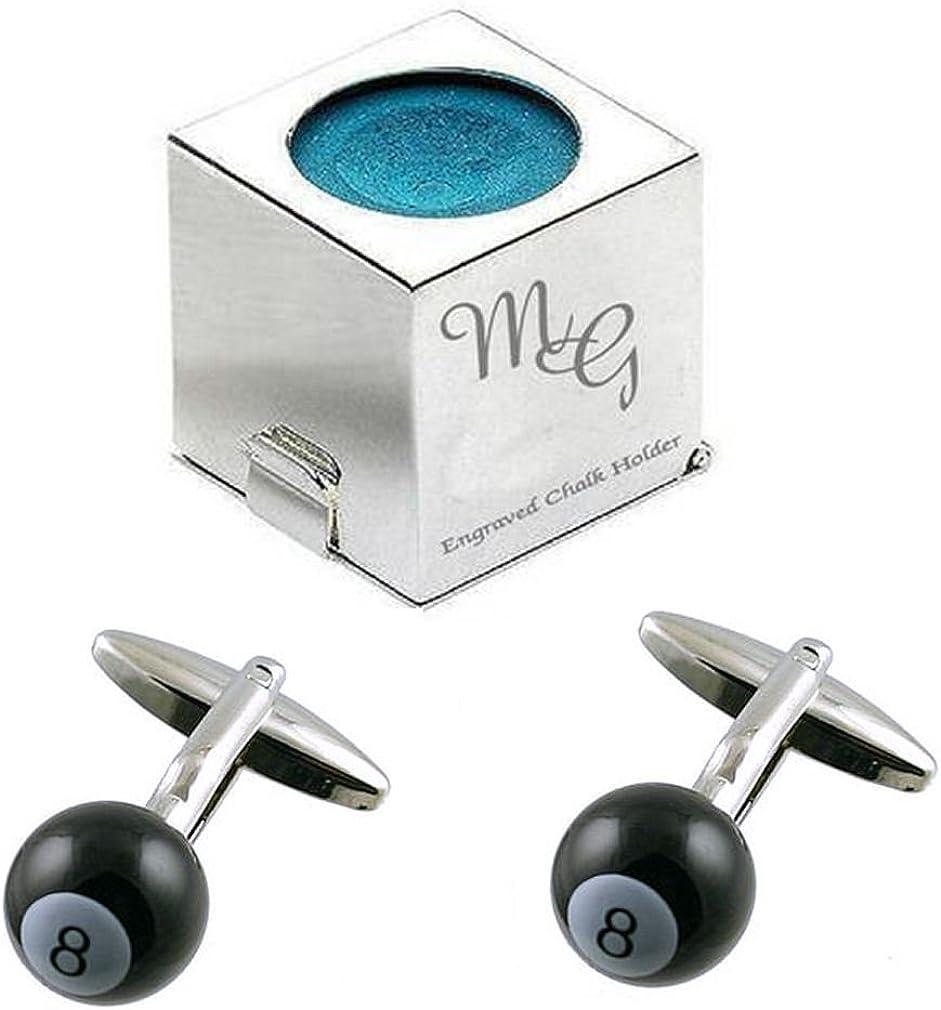Grabado Novelty soporte de tiza Funda Plus Pool 8Ball Gemelos con regalos de Select)