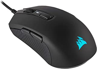 CORSAIR M55 RGB Pro Wired Ambidextrous Multi-Grip Gaming Mouse - 12,400 DPI Adjustable Sensor - 8 Programmable Buttons - Black (Renewed)