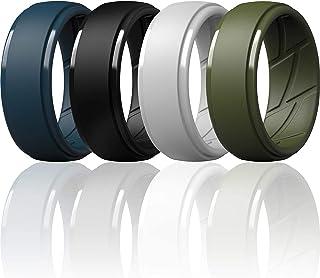 خاتم زفاف مصنوع من السيليكون للرجال من ثاندرفت، مزود بتجويفات اير فلو جيدة التهوية - بعرض 10 ملم - وسمك 2.5 ملم