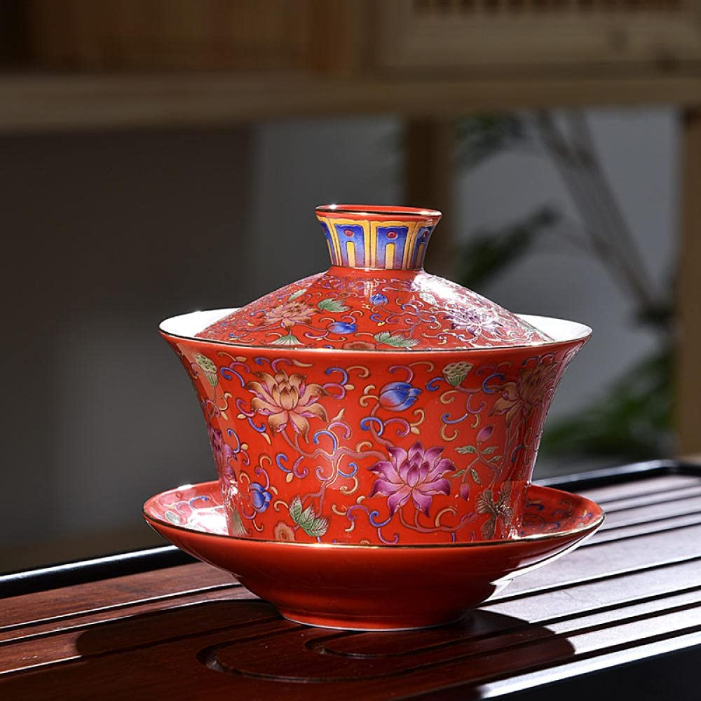 Gaiwan Special Campaign CHINA Traditional Ranking TOP18 Kungfu Sancai Ceramic Teacup T