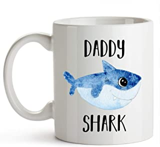 YouNique Designs Daddy Shark Mug 11 Ounce Daddy Shark Coffee Cup