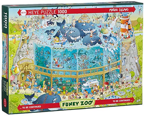 HEYE 29777 - Ocean Habitat Standard, Marino Degano, Funky Zoo, 1000 Teile Puzzle