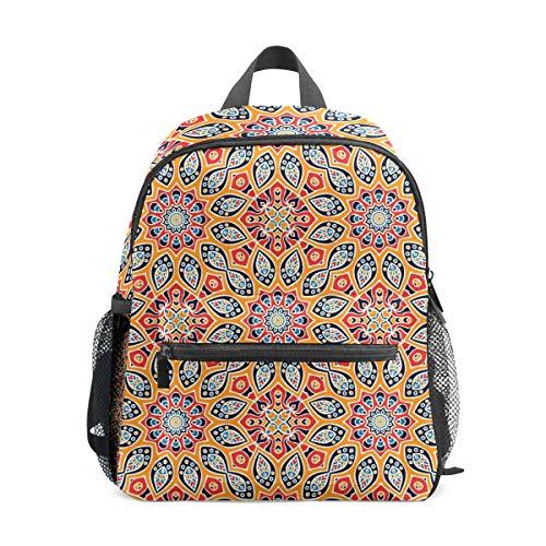 Mochila para niños preescolar, bolsa de escuela para niños de 1 a 6 años de edad, mochila perfecta para niños pequeños a kindergarten Mandala sin costuras