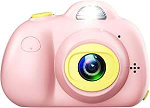 Children Kids Camera Dual Selfie 1080P HD Digital Toys Camera Video Photography Hobby for Age 3/4/5/6/7/8/9 Girls Boys Birthday (Pink)