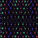 LARS360 Bunt LED Lichternetz 6x4m - 672er LEDs Lichterkettenvorhang Lichterkette Deko Lights Leuchte für Innen Außen Weihnachten Halloween Hochzeit Party oder Stimmung Lichter mit Stecker