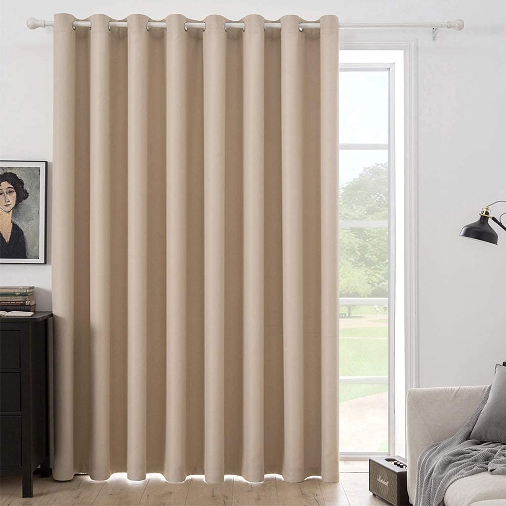 MIULEE Room Darkening Curtain Superior Vertical W Wide Solid A surprise price is realized Blinds Extra