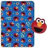 Jay Franco Sesame Street Elmo Plush Pillow and 40' Inch x 50' Inch Throw Blanket - Kids Super Soft 2 Piece Nogginz Set (Official Sesame Street Product)