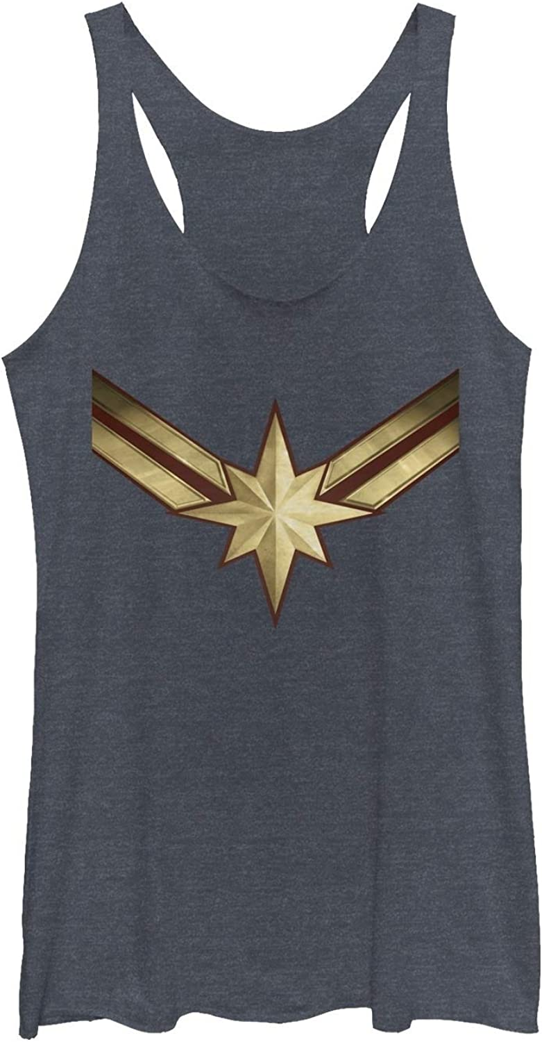 Marvel Womens Captain Marvel Retro Fighter Jet Plane Racerback Tank Top