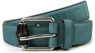 e0f2f5cca55 Gucci Men s Leather Suede Bamboo Buckle Belt 336827