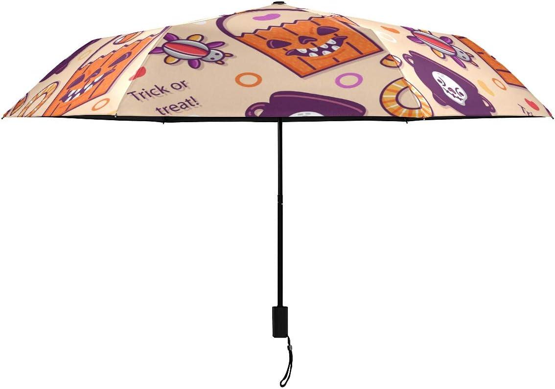 Halloween Animal Objects Parasol OFFicial shop National uniform free shipping Compact Umbrella Rain RainWind